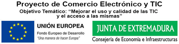Logo FEDER - Proyecto Comercio TIC